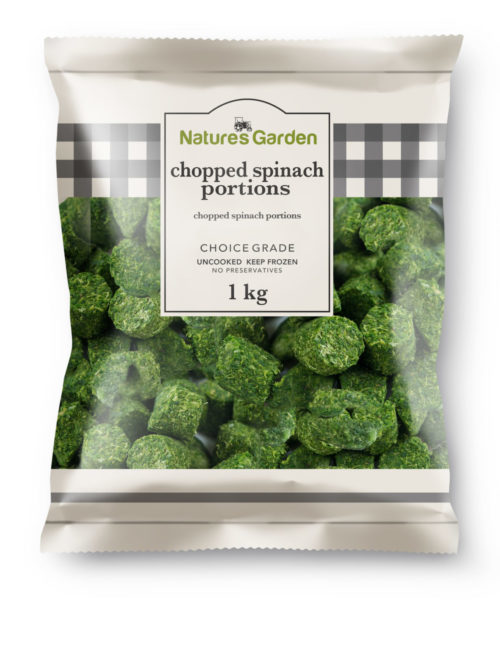 Chopped Spinach Portions